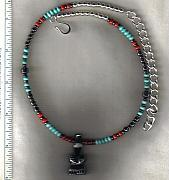 Fetishes Jewelry - OOAK Standing Bear Totem Choker by White Buffalo