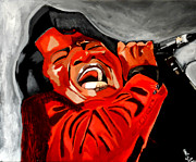 Art Of Soul Singer Prints - ooooww - James Brown Print by Saheed Fawehinmi