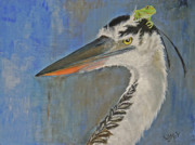 Waterfowl Paintings - Oops by Wanda McVeigh