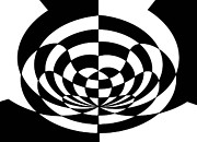 Op Art Prints - Op Art 2 Print by Methune Hively
