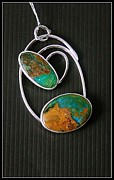 Jewellery Jewelry Originals - Opal and Silver Pendant by Doreen Schneider