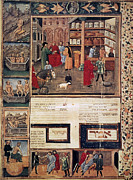 Manuscript Illumination Prints - Open-air Pharmacy Print by Granger