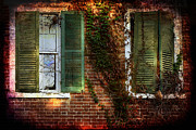 Old Windows Framed Prints - Open and Shut Framed Print by Sari Sauls