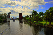 Miami River Photos - Open Bridge by Marcia Mello