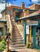Taos Framed Prints - Open for Business Framed Print by Jeff Kolker