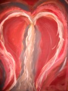 Change Paintings - Open Heart  by Anne Costa