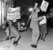 Open Housing Demonstrators Attacked Print by Everett