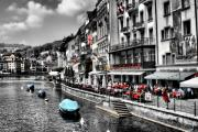 Switzerland Digital Art - Open Market at Lucerne by Greg Sharpe