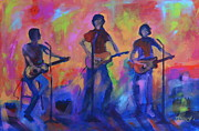 Amp Painting Framed Prints - Open Mic Night Framed Print by Lynn Chatman