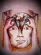 Ally Mixed Media Prints - Open Mind For A New World Print by Paulo Zerbato