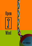 Key Chain Framed Prints - Open Mind Framed Print by Richard Rizzo