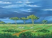 Thunder Painting Originals - Open Plains by Deon West