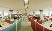 Open Plan Office Print by David Parker