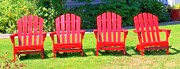 Adirondack Chair Photo Framed Prints - Open Seating Framed Print by Randall Weidner