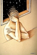 Self View Paintings - Open to the Infinite by Paulo Zerbato