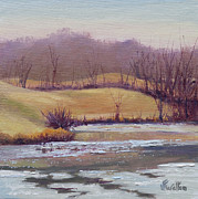 January Paintings - Open Water by Judy Fischer Walton