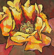 Bloom Painting Originals - Open Wide by Sandy Tracey