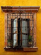 Portal Framed Prints - Open Window in Ochre Framed Print by Olden Mexico