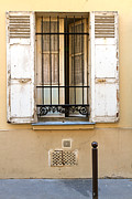 Open Window Framed Prints - Open window of a ground floor apartment in Paris Framed Print by Louise Heusinkveld