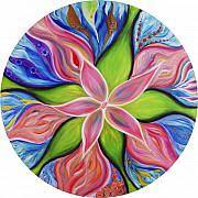 Inspirational Art Painting Originals - Opening Flower by Moira Gil
