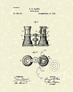 Fancy Drawings - Opera Glass 1882 Patent Art by Prior Art Design