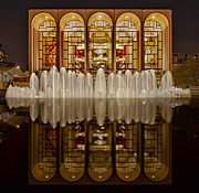 Metropolitan Opera Nyc Framed Prints - Opera House Reflections Framed Print by Susan Candelario