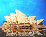 Building Reliefs Framed Prints - Opera of Sydney Framed Print by Kovats Daniela
