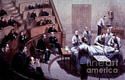 American School Framed Prints - Operating Amphitheater, Administering Framed Print by Science Source