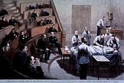 1880s Photos - Operating Room Amphitheater by Everett