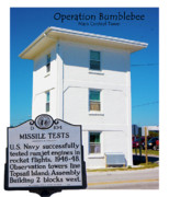 Topsail Island Digital Art Framed Prints - Operation Bumblebee Control Tower Framed Print by Betsy A Cutler East Coast Barrier Islands