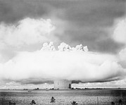 Atom Bomb Prints - Operation Crossroads Atom Bomb Test, 1946 Print by Us National Archives And Records Administration