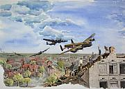 Bomber Painting Framed Prints - Operation Manna I Framed Print by Gale Cochran-Smith