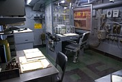 Intrepid Framed Prints - Operations Room On Uss Intrepid. Framed Print by Mark Williamson