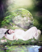 Grass Digital Art Posters - Ophelias Peace Poster by Karen Koski