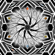 Ornamental Digital Art - Opia by Ann Croon