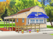 Catonsville Prints - Opies Snowball Stand Print by Stephen Younts