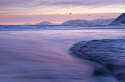Kodiak Photos - Opposing Waves at Sunset by Tim Grams