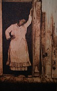 On Wood Pyrography Pyrography - Oprah in the Color Purple by Marlon Ivory