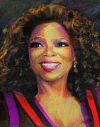 African-american Digital Art Prints - Oprah Print by James  Mingo