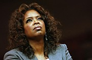 Barack Obama Metal Prints - Oprah Winfrey In Attendance For Barack Metal Print by Everett