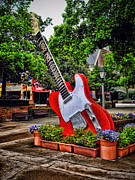 Nashville Tennessee Digital Art Metal Prints - Opry Guitar Metal Print by Mary Timman