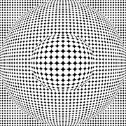 Circular Digital Art - Optical illusion ball in ball by Sumit Mehndiratta