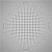 Optical Illusion Digital Art Posters - Optical illusion ball Poster by Sumit Mehndiratta