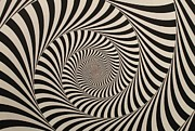 Spinning Prints - Optical Illusion Beige Swirl Print by Sumit Mehndiratta