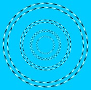 Illusion Art - Optical Illusion Blue swirl by Sumit Mehndiratta