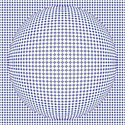 Optical Illusion Digital Art Posters - Optical Illusion Blue Yellow Ball Poster by Sumit Mehndiratta