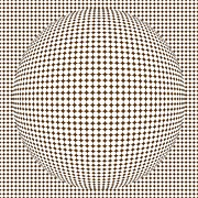 Monochrome Digital Art - Optical illusion brown ball by Sumit Mehndiratta