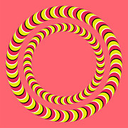 Optical Illusion Art - Optical Illusion Circle In Circle by Sumit Mehndiratta