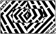 Optical Art Originals - Optical Illusion Maze of Floating Box by Yonatan Frimer Maze Artist