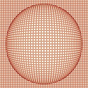 Optical Illusion Digital Art Posters - Optical illusion orange ball Poster by Sumit Mehndiratta
